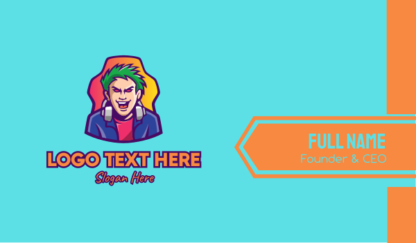 game youtuber - Online YouTube Gamer Business card horizontal design