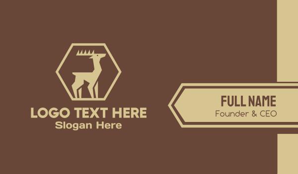deer horns - Wild Brown Deer Business card horizontal design