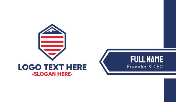 republican - American Mountain Business card horizontal design