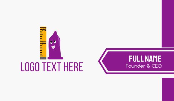 tiny - Purple Condom Business card horizontal design