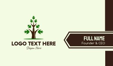 Growing Eco Tree  Business Card