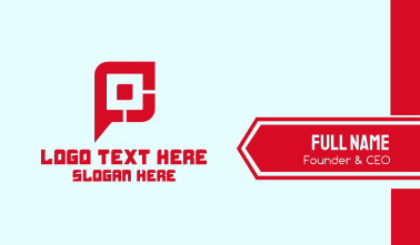 Gaming Tech Letter P Business Card