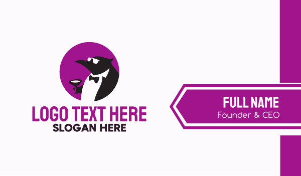 stag party - Tuxedo Penguin Suit Business card horizontal design