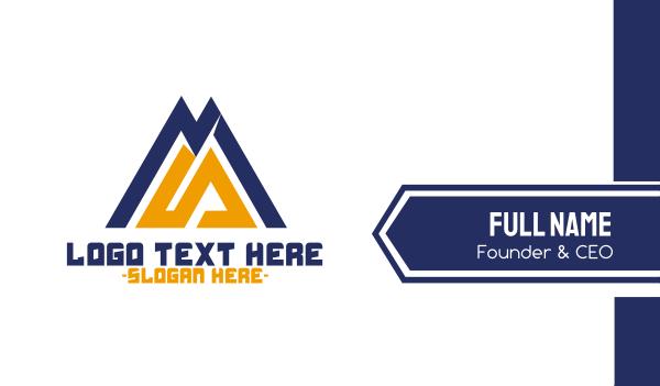 coach - Modern Mountain  Business card horizontal design
