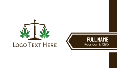 Cannabis Justice Business Card