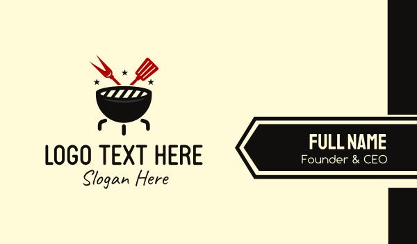 food service - BBQ Grill Cook Restaurant Business card horizontal design