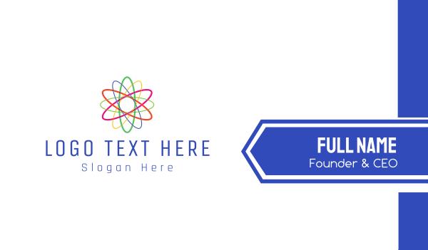molecule - Colorful Atom Business card horizontal design