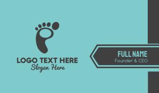 Foot Footprint Business Card