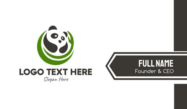 sanctuary - Nature Panda Bear  Business card horizontal design