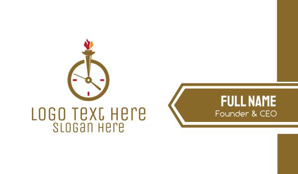 minute - Clock Torch Business card horizontal design