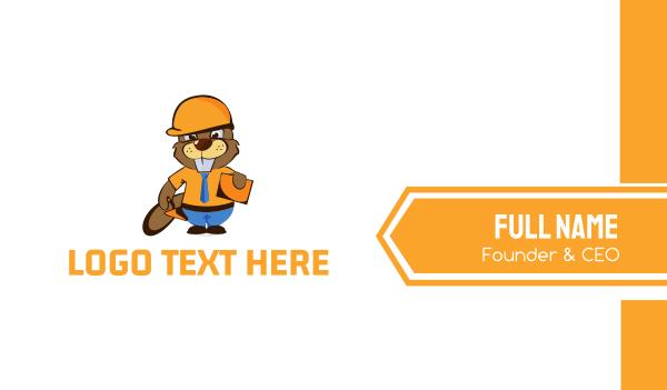 maintenance - Beaver Worker Business card horizontal design