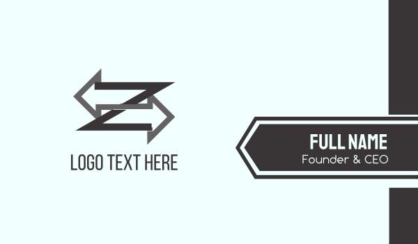 lettermark z - Right & Left Business card horizontal design