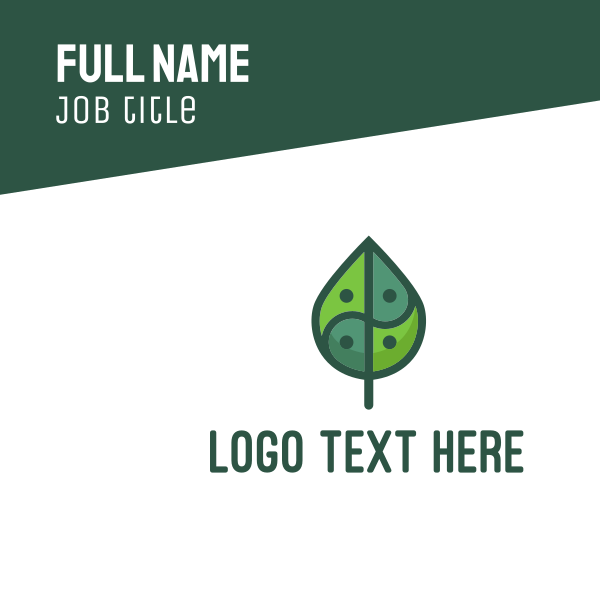 Asia Eco Balance Leaf Business Card