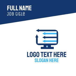 Computer Marketing Business Card