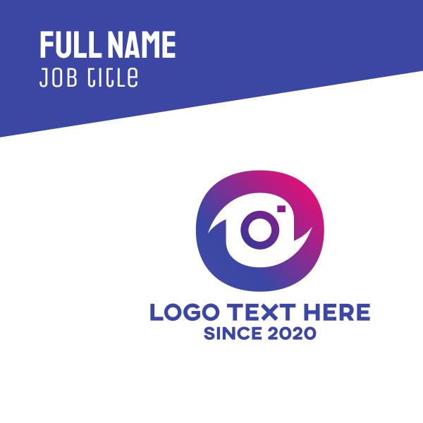 Instagram Photography Camera Business Card