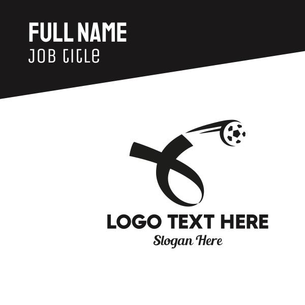Soccer Football Ribbon Business Card