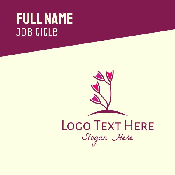 Wine Flower Garden Business Card