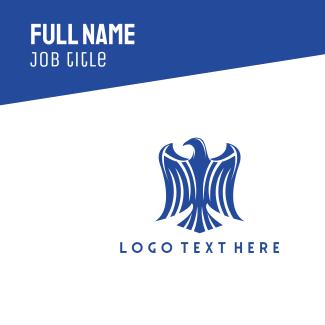 Blue Eagle Emblem Business Card