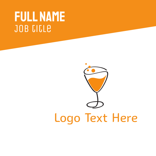 Orange Sparkling Juice Business Card