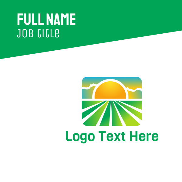 Sunny Eco Field Business Card