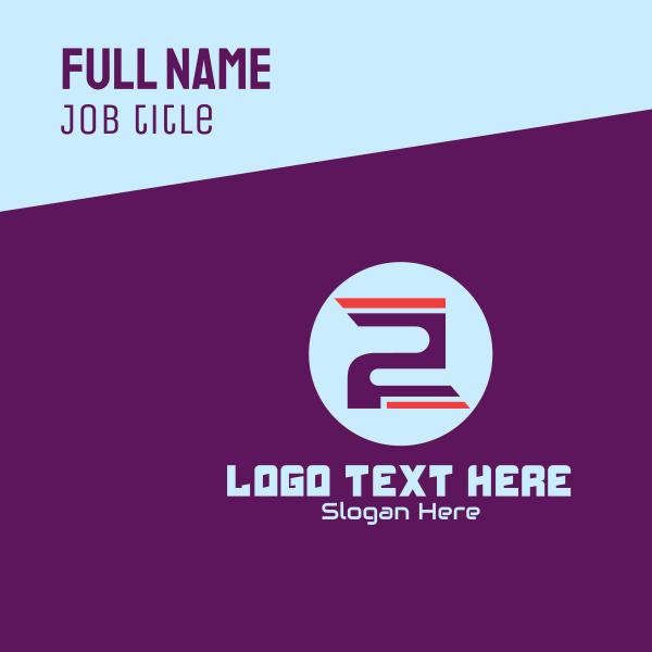 Cyber Gaming Emblem Number 2 Business Card