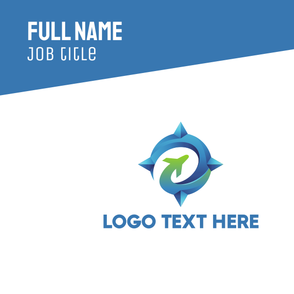 Airplane Emblem Business Card
