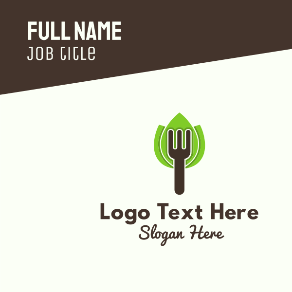 Organic Fork Business Card