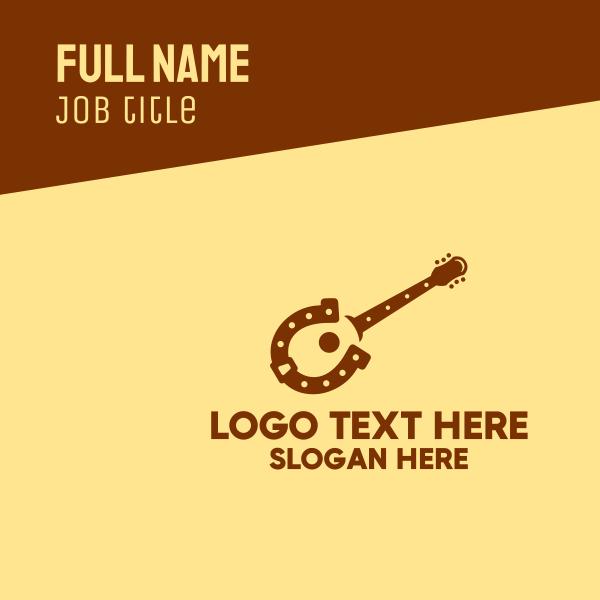 Horseshoe Guitar Business Card