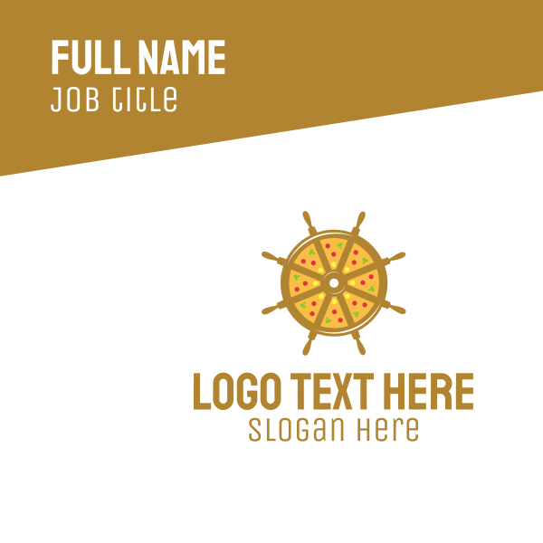Nautical Pizza Business Card