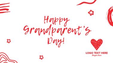 Happy Grandparents Scribble Facebook event cover