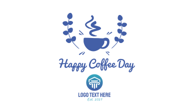 Happy Coffee Day Badge Facebook event cover