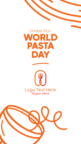 Quirky World Pasta Day Facebook story