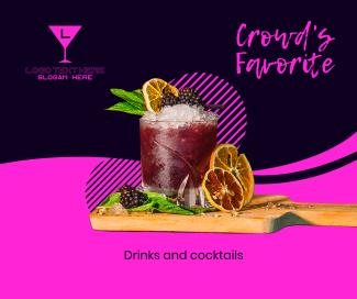 Ladies Night Cocktails Facebook post