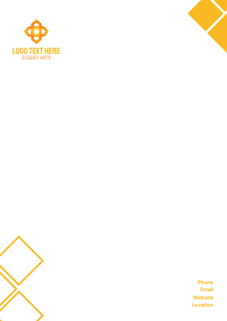 Abstract Shapes Letterhead