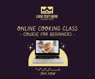 Online Cooking Class Facebook post