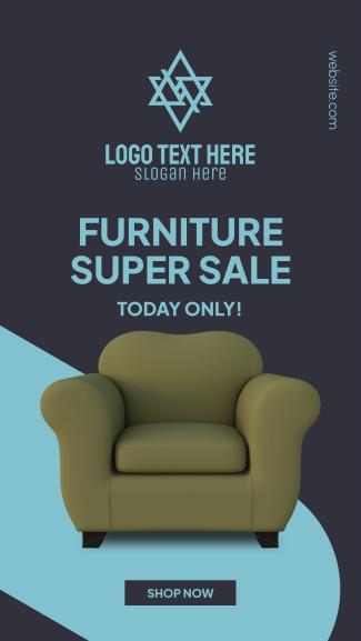 Furniture Super Sale Facebook Story