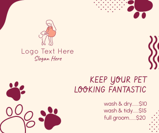 Pet Groom Service Facebook post