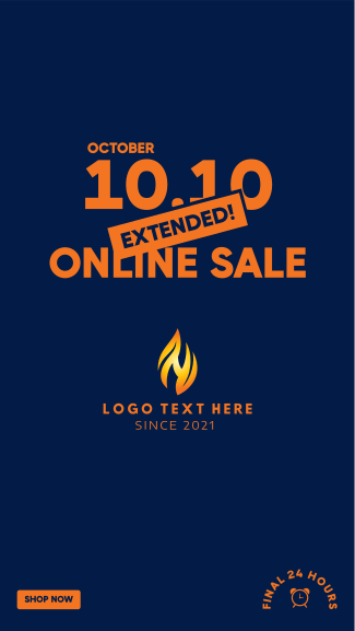 Extended Online Sale 10.10  Facebook story