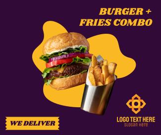 Burger Fries Facebook post