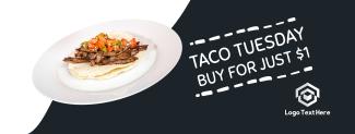 Taco Tuesday Doodle Facebook cover