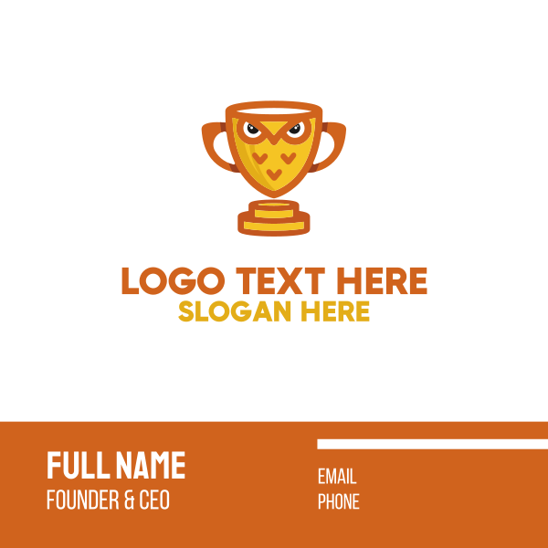 Owl Trophy Business Card