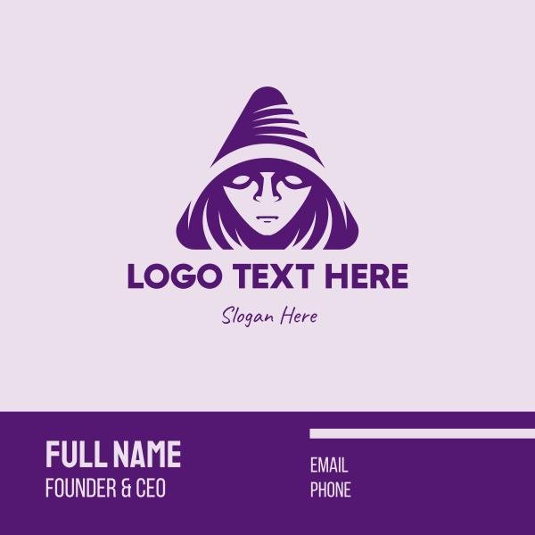 Violet Triangular Wizard Business Card