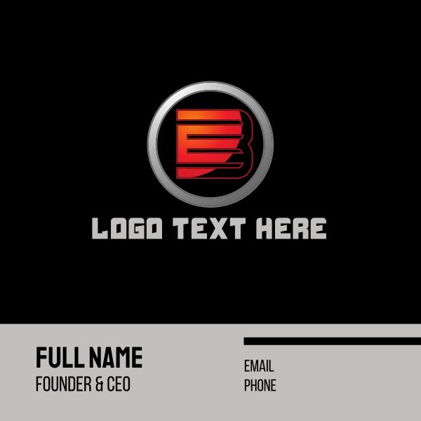 Tech Letter B Circle Business Card
