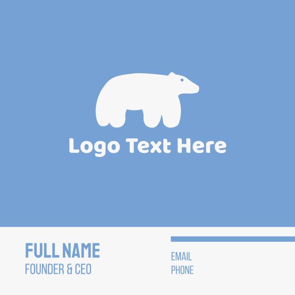 Cute Polar Bear Business Card