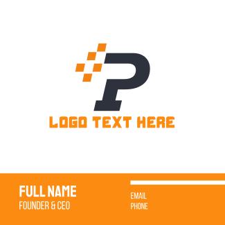 Automotive Letter P Business Card