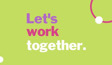 Let's Work Together Business Card