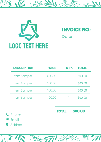 Floral Invoice
