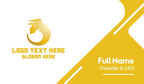 high end - Golden Bull Business card horizontal design