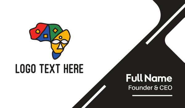 zulu - African Continent Business card horizontal design