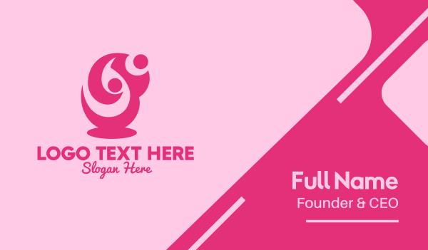 aid - Feminine Human Outreach Business card horizontal design